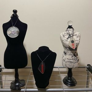 Jewelry - Handmade resin necklace pendants w/ two necklaces
